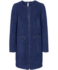 RAINBOW Teddy-Mantel langarm in blau für Damen von bonprix