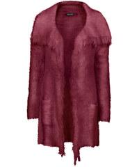 BODYFLIRT Flauschiger Strickcardigan langarm in rot für Damen von bonprix