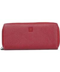 Kabelkový Slon Dámská červená kožená peněženka 1212-08