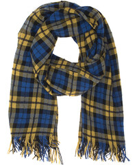 FAITH CONNEXION Scarf Plaid Blue Yellow