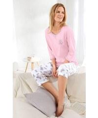 Große Größen: Schlafanzug, Rosalie, rosé-bedruckt, Gr.36/38-52/54