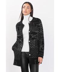 Esprit Pletený kabát s žakárovým vzorem