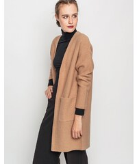 Svetr Selected DARLA CARDIGAN TANNIN