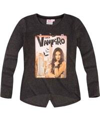 Chica Vampiro Langarmshirt grau in Größe 116 für Mädchen aus 65 % Baumwolle 35 % Polyester