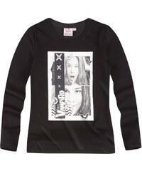 Chica Vampiro Langarmshirt schwarz in Größe 116 für Mädchen aus 100% Baumwolle
