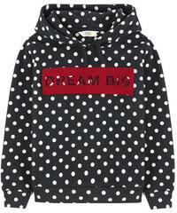 Little Eleven Paris Gepunktetes Kapuzen-Sweatshirt