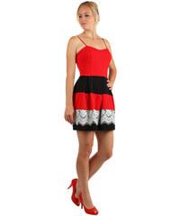 109a85f66248 Glara Večerné šaty s čipkou na sukňu