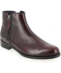 Boots Femme Costa Costa en Cuir Rouge