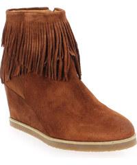 Boots Femme Weekend en Cuir velours Camel