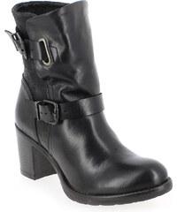 Boots Femme Coco et Abricot en Cuir Noir