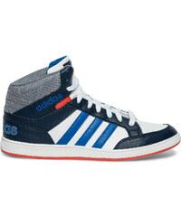 Basket Adidas bleue et blanche Hoops Mid