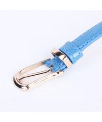 Lesara Schmaler Gürtel in Leder-Optik - Blau