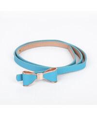 Lesara Schmaler Taillengürtel mit Zierschleife - Blau