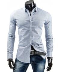 Jednoduchá vzorovaná světle modrá košile