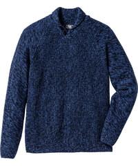bpc bonprix collection Pull col châle Regular Fit bleu manches longues homme - bonprix