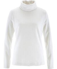 bpc bonprix collection T-shirt en polaire à col roulé blanc manches longues femme - bonprix