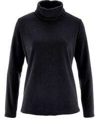 bpc bonprix collection T-shirt en polaire à col roulé noir manches longues femme - bonprix
