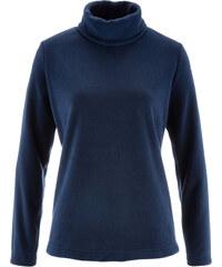 bpc bonprix collection T-shirt en polaire à col roulé bleu manches longues femme - bonprix