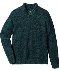 bpc bonprix collection Pull col châle Regular Fit vert manches longues homme - bonprix