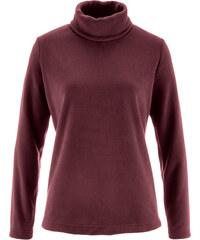 bpc bonprix collection T-shirt en polaire à col roulé rouge manches longues femme - bonprix