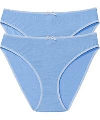 bpc bonprix collection Lot de 2 slips bleu lingerie - bonprix