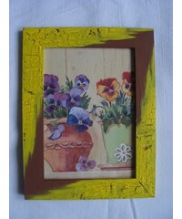 Obrázek obdelník v rámečku Macešky 2