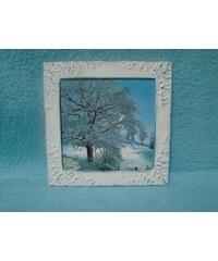 Obrázek čtverec v rámečku Zima