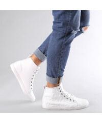 Lesara High-Top-Sneaker mit 3D-Wabenmuster - Weiß - 40