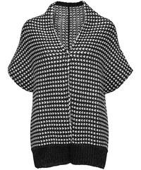 Značkové pletené pončo Marc O´Polo (vel.L skladem) S černo-bílá