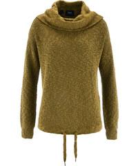bpc bonprix collection Pullover mit Kordelzug langarm in grün für Damen von bonprix