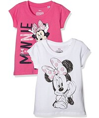 TVMania TV Mania Mädchen T-shirt Disney Minnie Mouse, 2er Pack