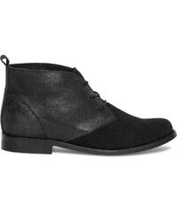 Eram Boots noir irisé à lacet