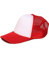 Lesara Snapback-Cap mit Netzeinsatz - Rot