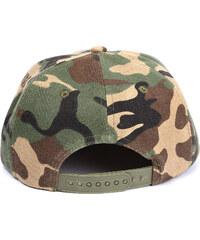 Lesara Snapback-Cap Camouflage - Grün