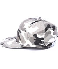 Lesara Snapback-Cap Camouflage - Grau