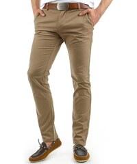 Elegantní béžové pánské kalhoty chinos