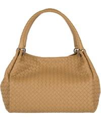 Bottega Veneta Sacs portés main, Ebano Interecciato Paracute Bag Camel en cognac