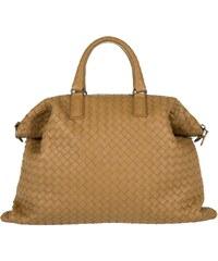 Bottega Veneta Sacs à Bandoulière, Convertible Intercciato Shopping Bag Camel en cognac