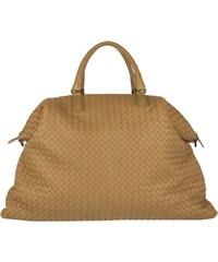 Bottega Veneta Sacs à Bandoulière, Convertible Intercciato Shopping Bag Maxi Camel en cognac