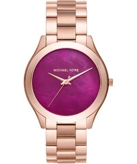 Michael Kors Montres, Ladies Slim Runway Watch Roseor en or, parme