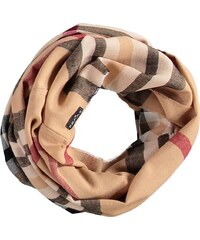 FRAAS Snood mit klassischem FRAAS Plaid in camel