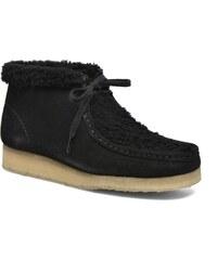 Clarks Originals - WALLABEE BOOT WOOL LINED W - Schnürschuhe für Damen / schwarz