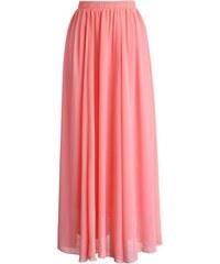 00182c97708 CHICWISH Dámská sukně Maxi Candy Pink Chiffon