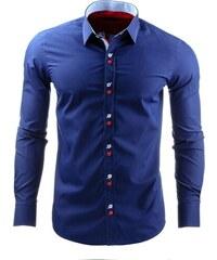 Moderní granátová košile pro pány