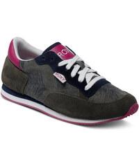 Roxy Běžecké kožené boty Run II Shoe Military ARJS700068-MIL