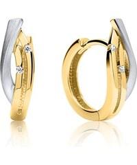 Unique Jewelry Elegante 333er Gold Creole bicolor GE0273