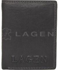 Lagen Pánská černá kožená peněženka Black 614785-1