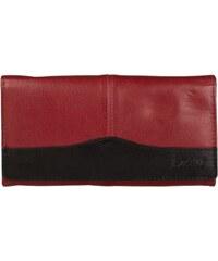 Lagen Dámská kožená peněženka Red/Black PWL-367