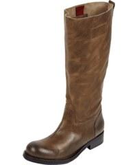 Hilfiger Denim Stiefel aus Leder mit Profilsohle