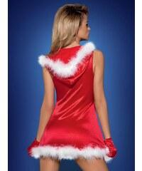 Vánoční kostým Santa´s Lady dress - Obsessive Barva: červená, Velikost: S/M